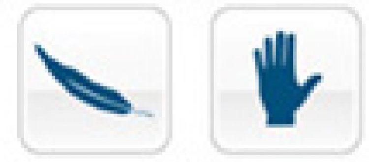 Iconos descriptivos de paraguas