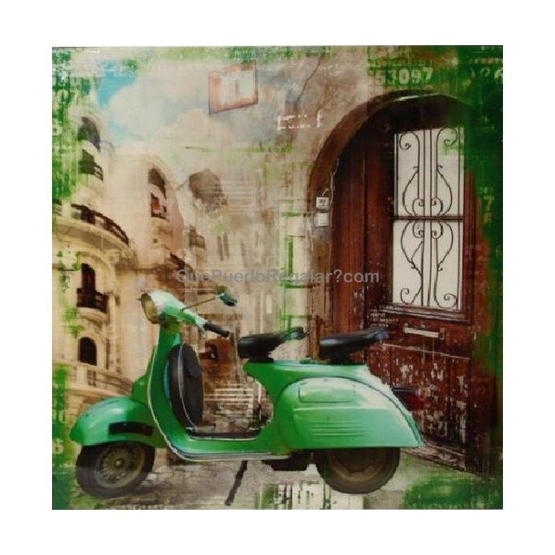 Cuadro vespa verde decoraci n y hogar cuadros que for Decoracion hogar verde