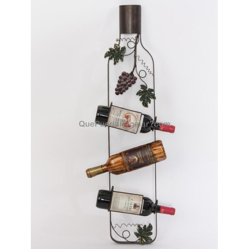 Botellero 2 botellas decoraci n y hogar complementos de for Complementos decoracion hogar