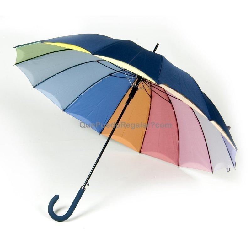 Paraguas doble tela arco iris azul paraguas originales - Tela de paraguas ...