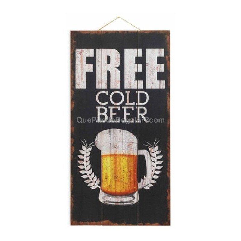 Cuadro free beer decoraci n y hogar cuadros for Cuadros originales decoracion