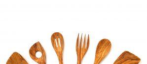 Para la cocina… palas, cucharas y cubiertos de madera
