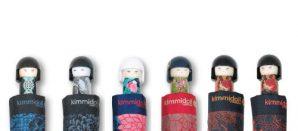Paraguas plegables con muñecas Kokeshi